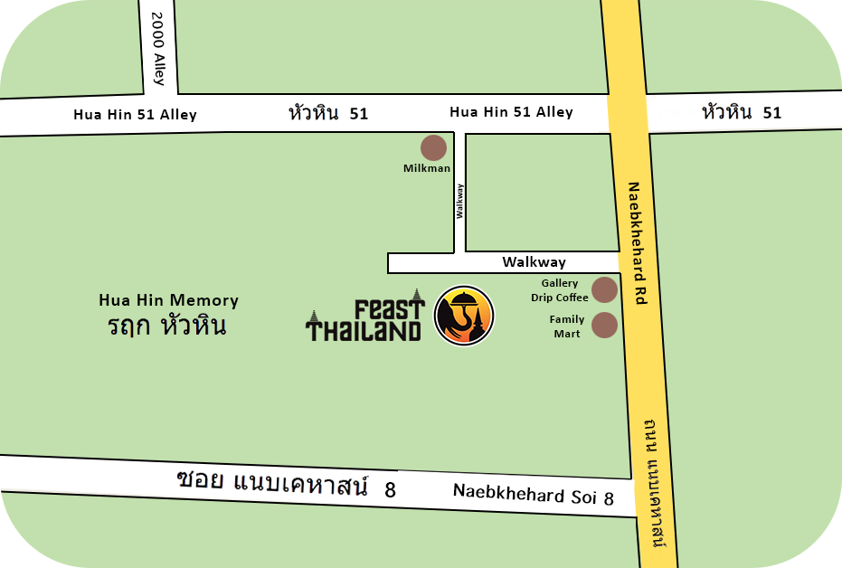 Feast Thailand Map